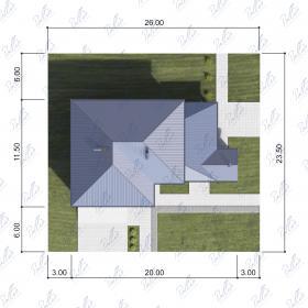 Расположение дома на участке X4a