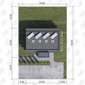 Расположение дома на участке Xb3