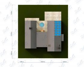 Расположение дома на участке X35