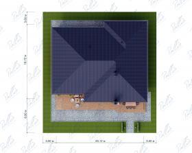 Расположение дома на участке X37