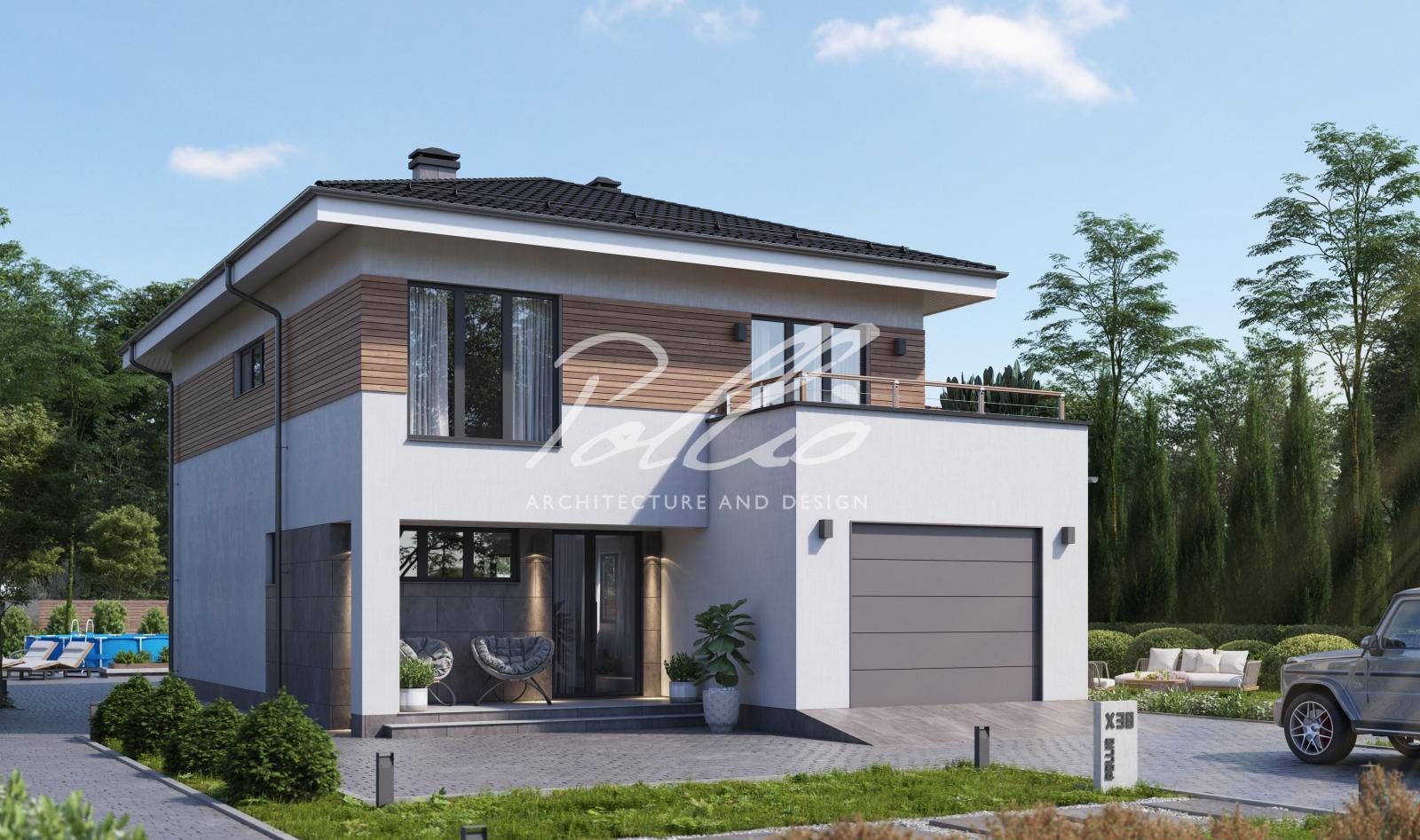 X38 Европейский проект двухэтажного дома фото 0